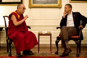 President Barack Obama in meeding with the Dalai Lama
