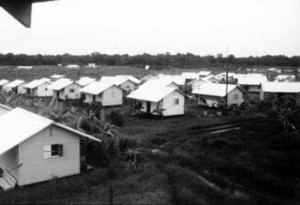 Jonestown houses -- the infamous location in Guayana where a massacre became a major catalyst for the anti-cult movement's popularity.